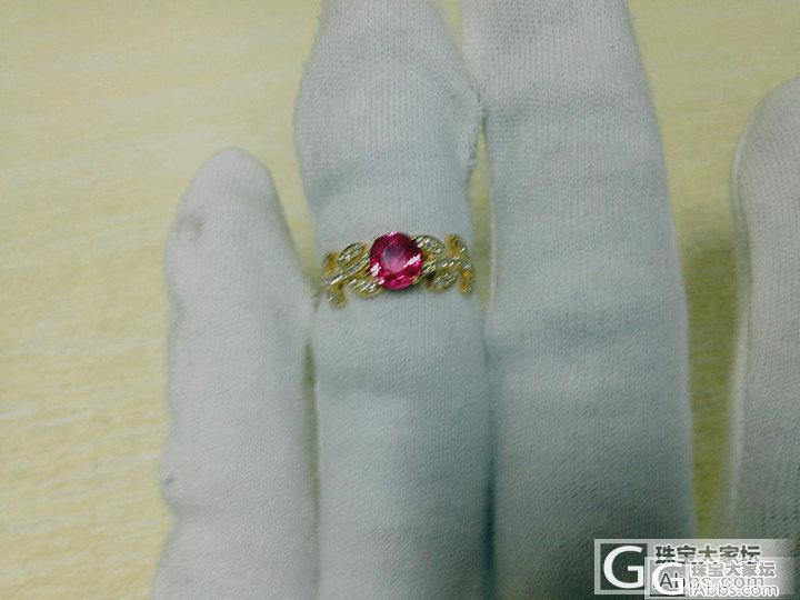 樱桃红精品尖晶石戒指,橄榄枝款式,太..._镶嵌珠宝