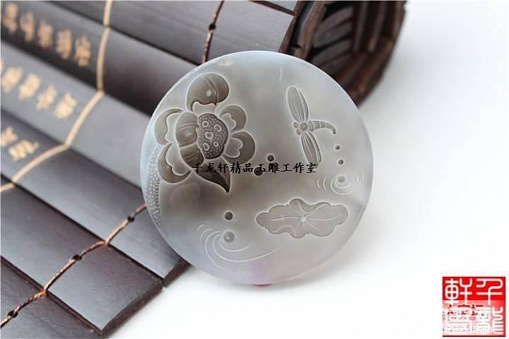 玉石玉器来料加工设计定做  荷花作品欣赏_玛瑙