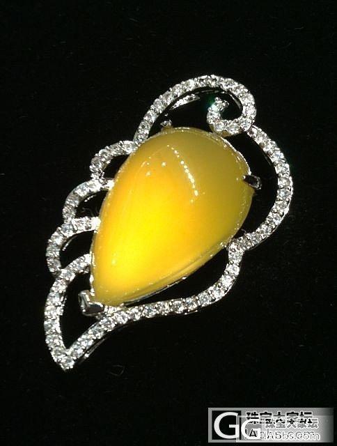 天然黄色的欧泊  漂亮.._宝石