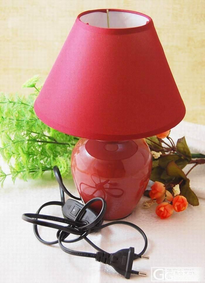 包邮 糖果色 时尚创意陶瓷小台灯_品质生活