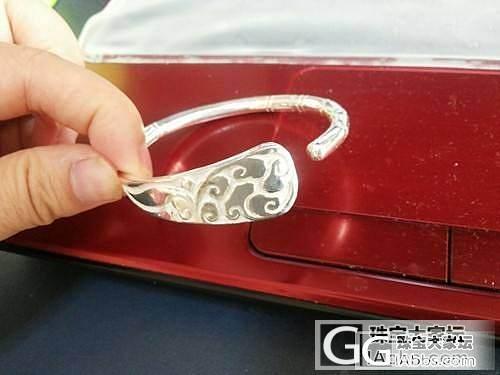 转盘蛇镯,双魚镯,云纹镯,难得的全新999千足银款_银