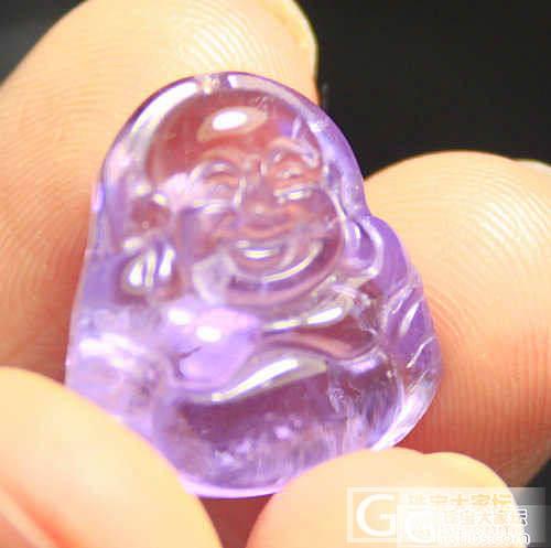 出一个紫黄晶小佛佛 饱满憨态可掬_宝石