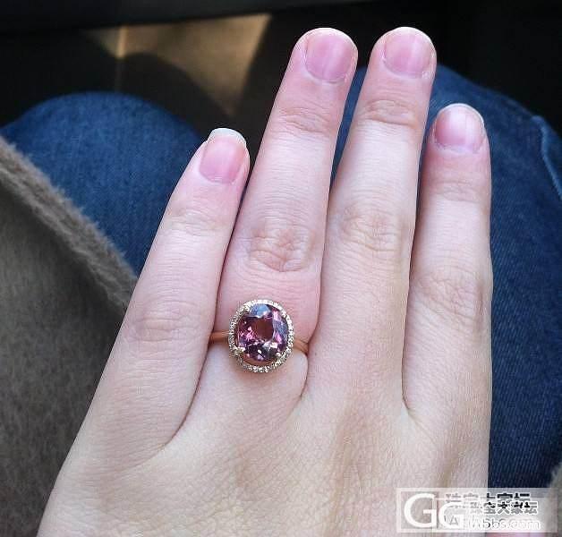 新人刚入手一枚碧玺戒指,大家帮我估估..._碧玺刻面宝石
