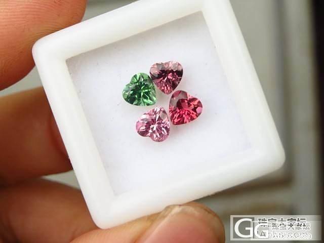 心语宝石】小心形碧玺戒面组盒*紫水晶_宝石