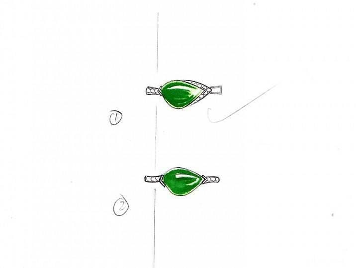 9月6布衣镶嵌随形不对称不规则戒指_布衣镶嵌