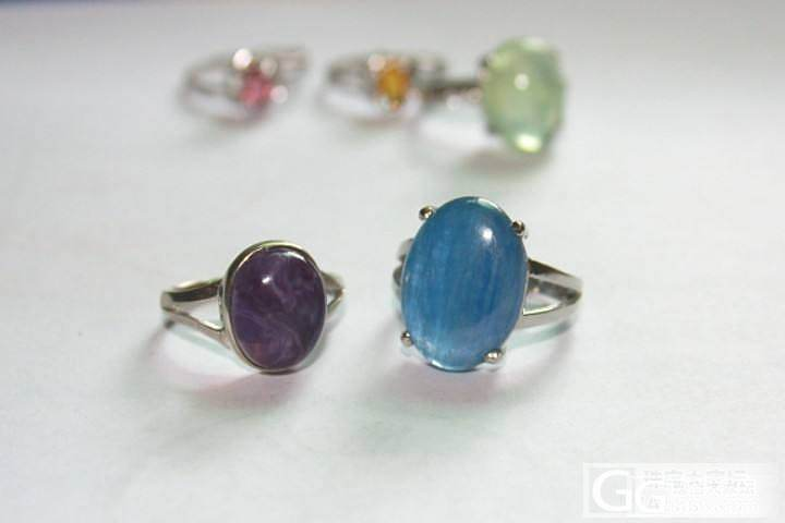 紫龙晶,蓝晶石,金发晶,小碧玺戒指,..._珠串