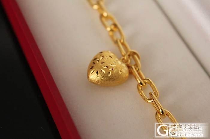 香港大福的心心手链,很时尚有木有?_手链金