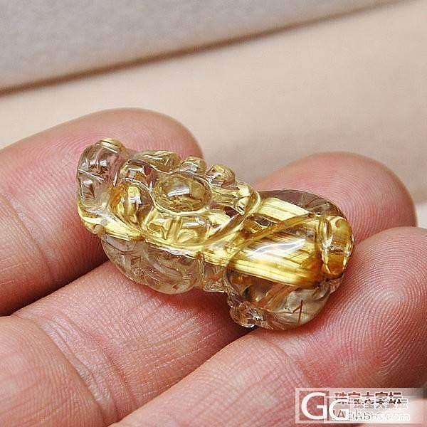 极品钛晶貔貅小吊坠极品 极品纯白体钛晶_宝石