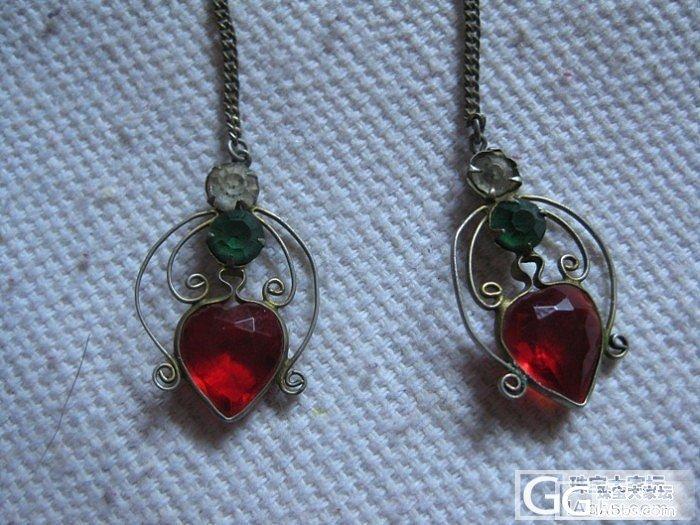 小时候奶奶给我的一对耳环,不知道镶嵌..._耳坠宝石刻面宝石