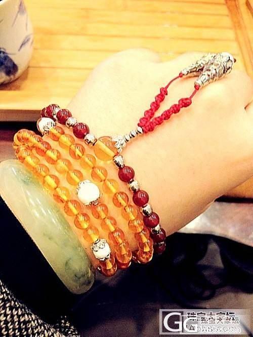 自己DIY的108佛珠,手串,珊瑚,..._工艺