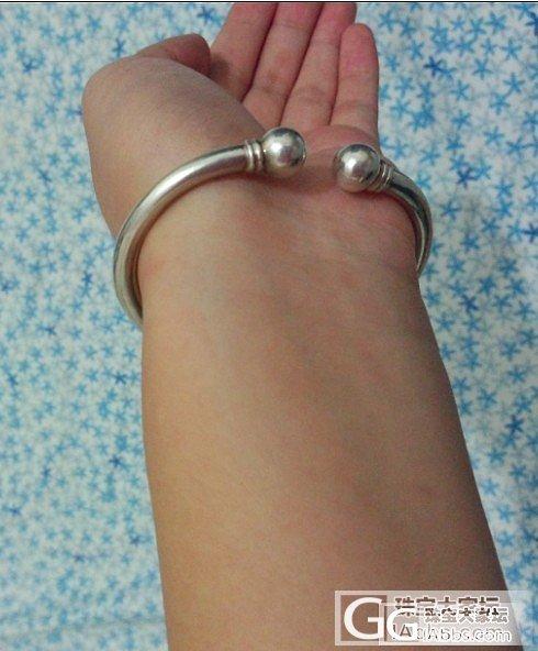 小珍家的圆条圆蒜。_手镯银