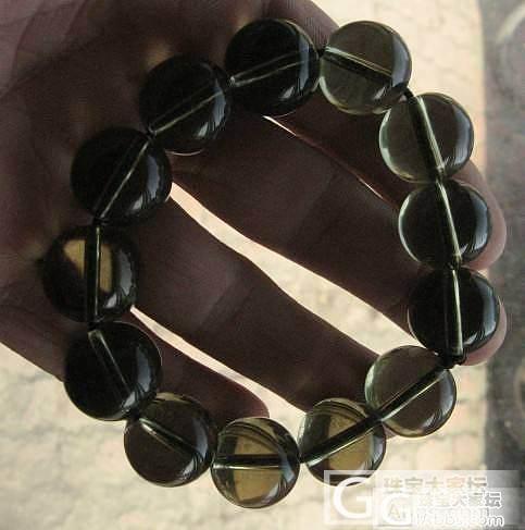 天然水晶手串 (白水晶  茶晶)_宝石