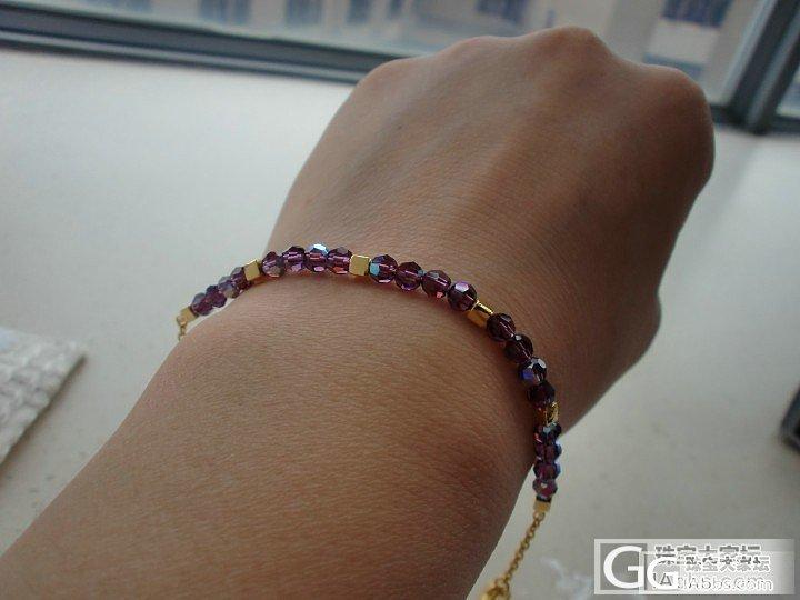 接昨晚的帖子:闪紫和五彩莲来了_手链戒指金