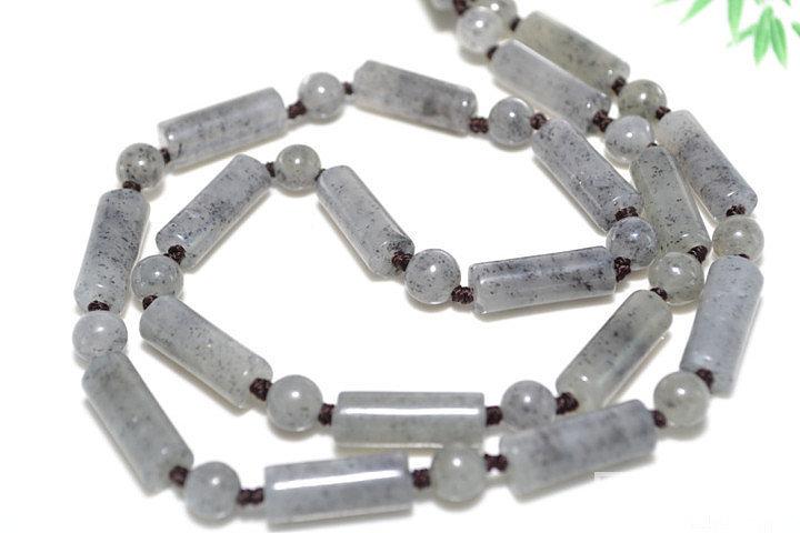 转和田青花籽料项链3种款型,可做项链..._传统玉石