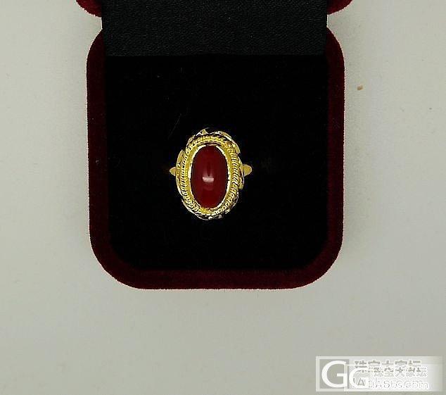血红血红的---全手工9999金阿卡..._珊瑚戒指金