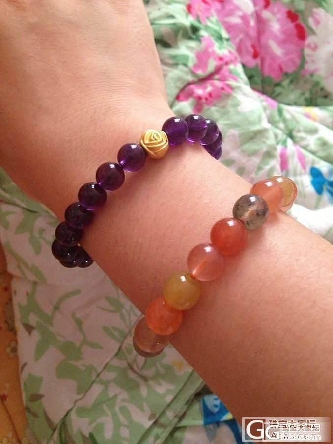 七月的福禄寿和紫水晶~_珠串