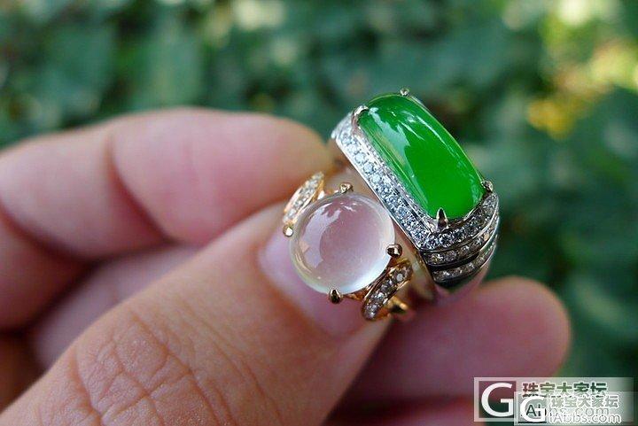 10.25再上阳绿戒指和辣绿手链,耳..._翡翠