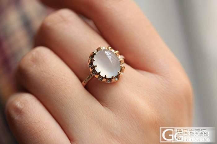 『蓝魔翡翠』一个美美的白蛋戒指和5个..._翡翠