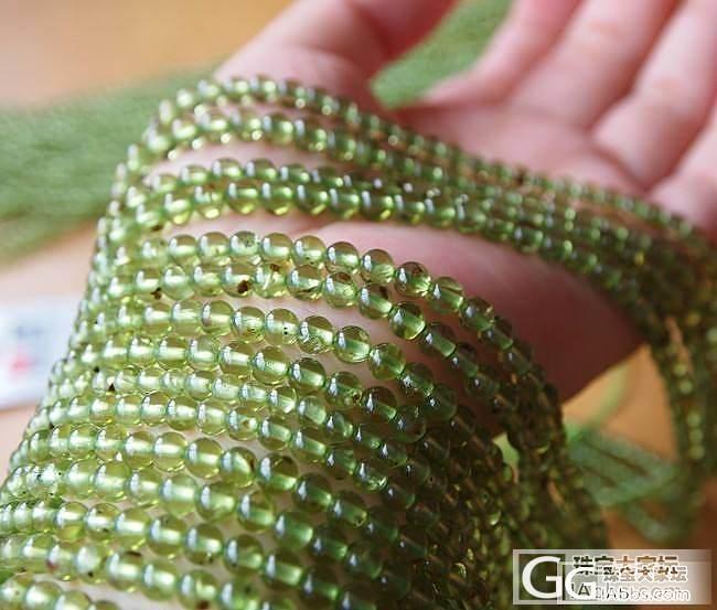 纯天然橄榄石半成品长约40CM/串_宝石