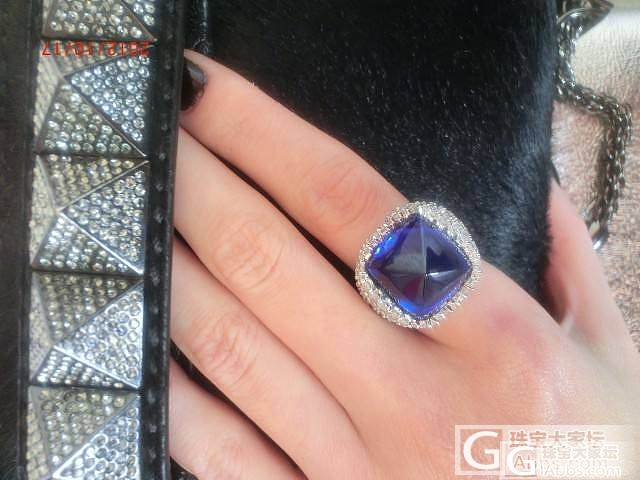 第一次购买的一颗坦桑石,18.5克拉..._坦桑石刻面宝石