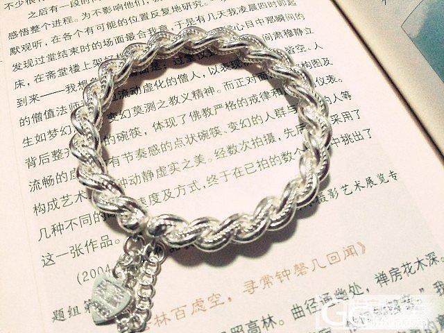 关于我的银镯,各种各种美好~_吊坠手镯银