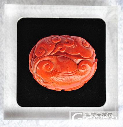 精品南红雕件--节庆有余(柿子红)_玛瑙