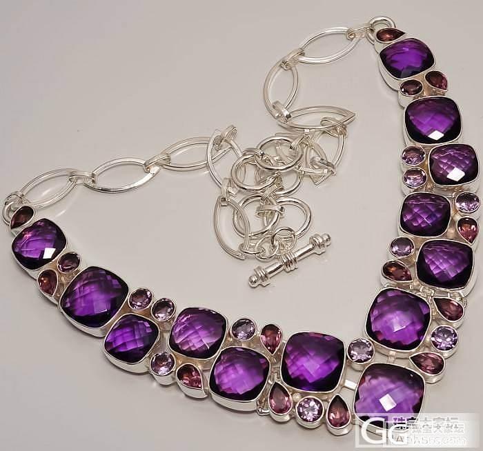 一串欧美最新大师级设计极品非洲紫晶项..._宝石
