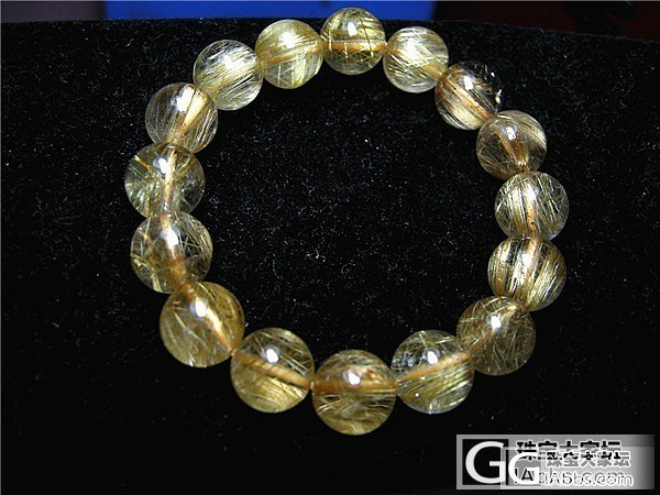情侣款金发晶手链一对   10.5mm+13.5mm   10.5的可单转_珠串
