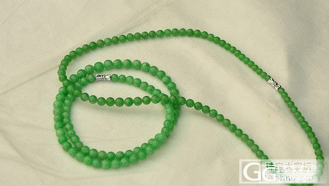 满绿翡翠项链拿出来晒晒 夕阳下拍摄_翡翠