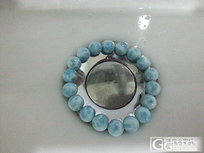 最爱的蓝色╭(╯ε╰)╮海纹石和蓝月..._月光石手链海纹石