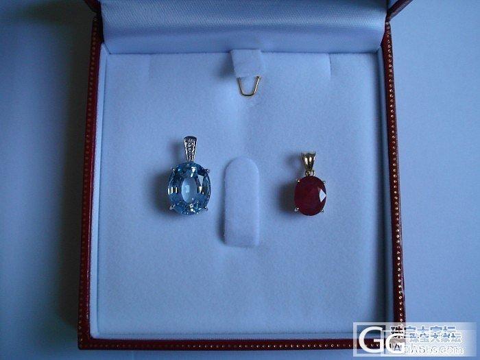 这2个宝石看看刚加工好,都有主人的。_红宝石吊坠海蓝宝刻面宝石