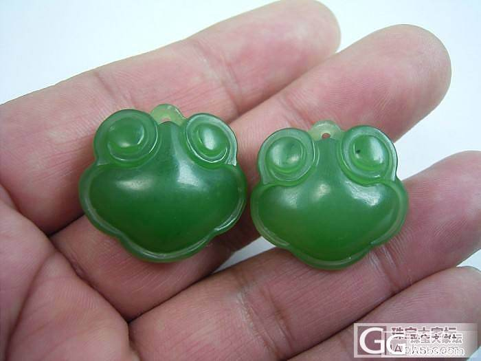 碧玉宝宝锁和QQ蟹,萌不?_传统玉石
