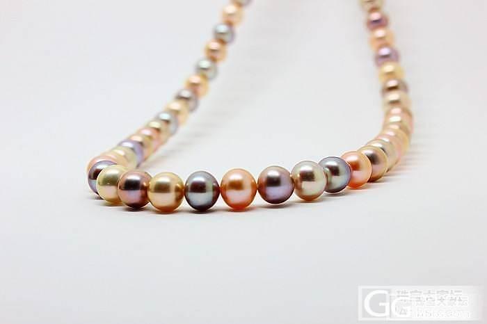 新到极强光彩色珍珠项链 仅5条 华润..._有机宝石