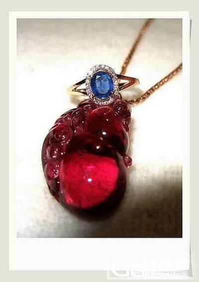 潮闷天,看看颜色石头玫瑰金,舒缓一下_吊坠蓝宝石碧玺戒指金