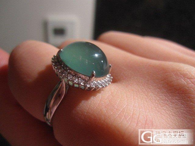 我的第一个蓝绿水大戒指_翡翠
