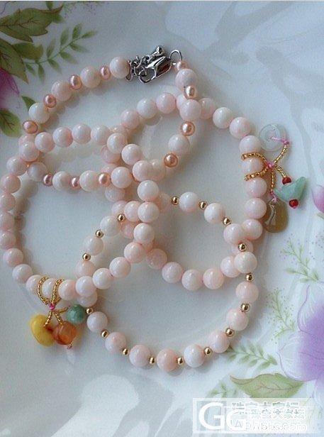 深水珊瑚粉色手链_有机宝石