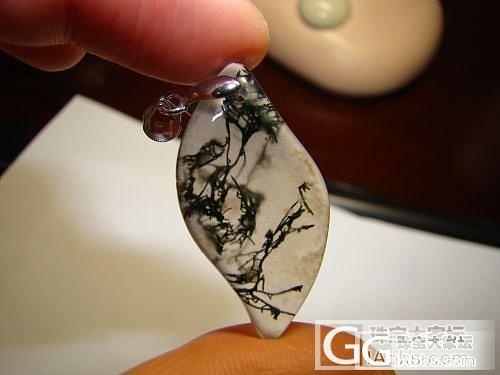 出一只晶体很透的天然水草玛瑙吊坠_玛瑙