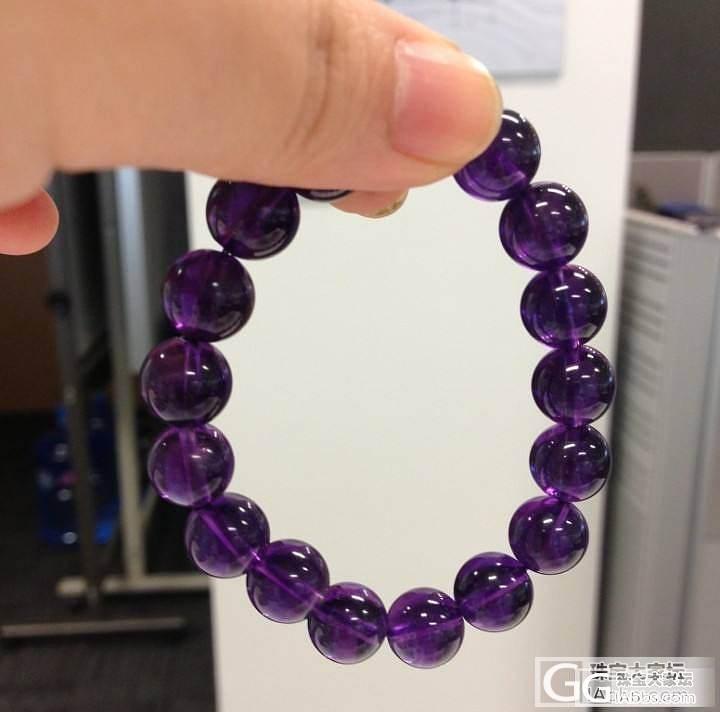 今天新入了一条紫水晶,大家看看还可以不_宝石