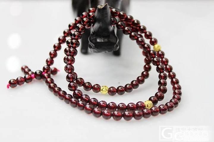 【新货到】——佛珠style 酒红石..._宝石