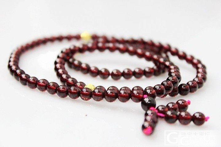 【晒新货】——佛珠style 酒红石..._宝石