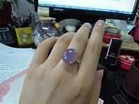 晒晒朋友的紫玉髓戒指~我也眼馋_玉髓