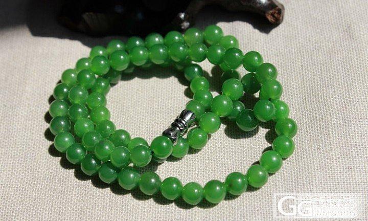顶级阳绿项链_传统玉石