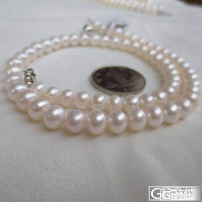 开贴甩80元一条淡水珍珠项链*送礼品盒*坛子里包邮_有机宝石