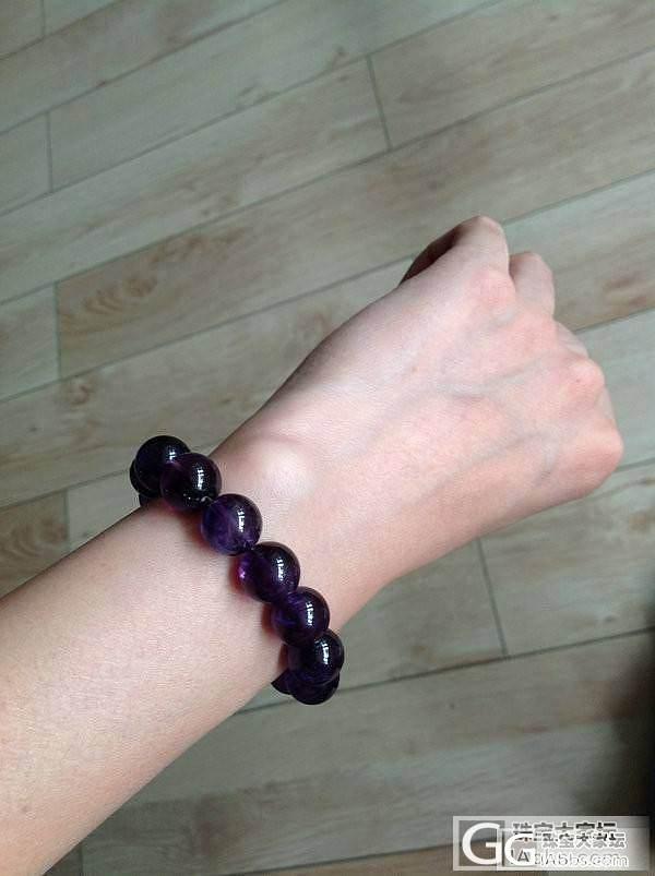 【意向帖】出医神家12MM紫水晶手珠和淡绿冰种翡翠手链_宝石
