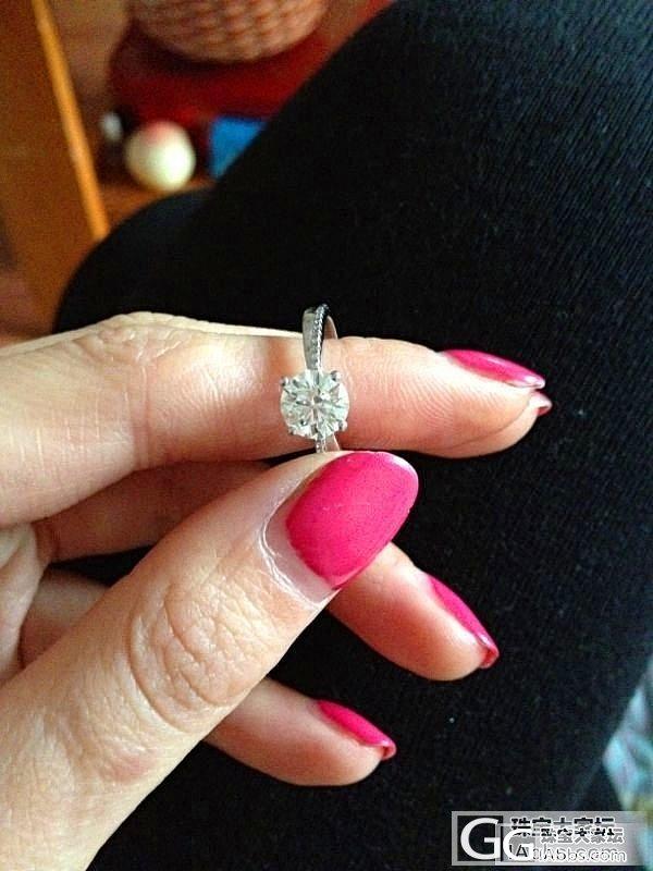 跟风晒个钻戒,在坛子里买的裸钻,自己..._钻石