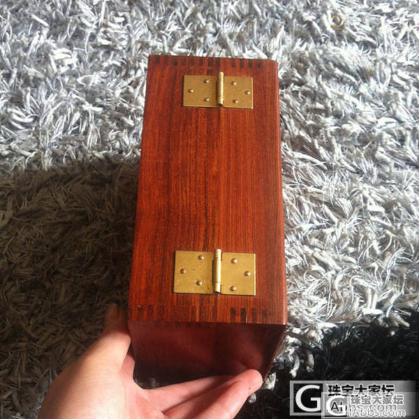 红檀素面翻盖首饰盒 140元一个_文玩
