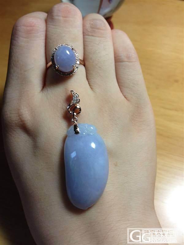 紫色控的我再发个戒指和挂坠吧_翡翠