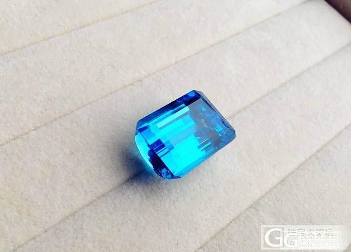 【P.Z 珠宝】 顶级蓝 火彩超好 天然托帕石裸石戒面 41.64克拉 可订制_宝石