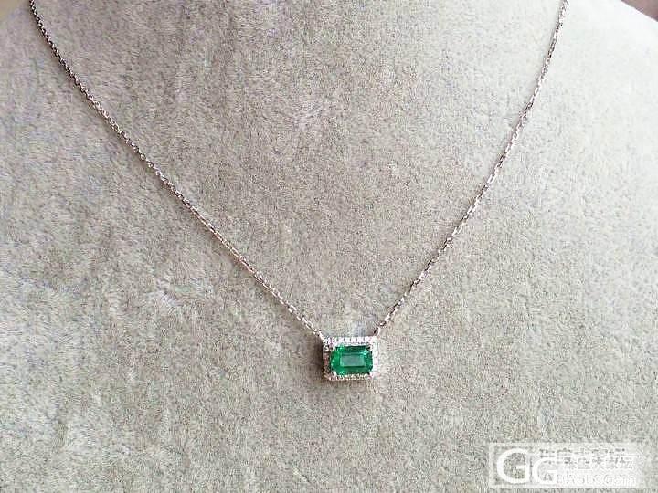 【P.Z 珠宝】 祖母绿0.8克拉 天然出火彩 18K锁骨链 钻0.105克拉_宝石