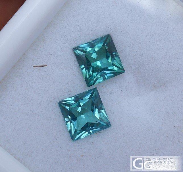 一对去了,又来一对~~蓝公主方,尤物..._碧玺刻面宝石